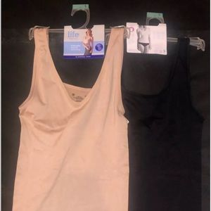 2 jockey slimming tank tops